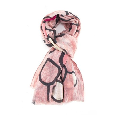 PINK PEBBLES SCARF